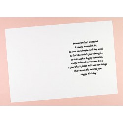 C5 Birthday Verses Card Inserts - Pack of 10 (portrait)